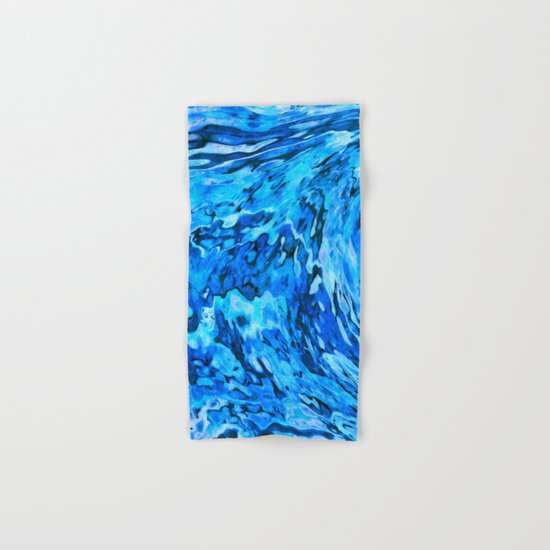 Blue wave abstract Hand & Bath Towel