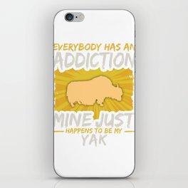 Yak Addiction Funny Farm Animal Lover iPhone Skin