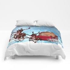 Christmas, funny skeleton Comforters