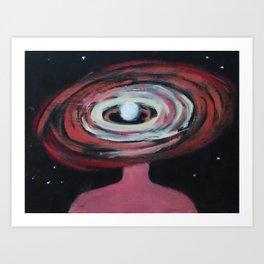 Galaxy Portrait 2 Art Print