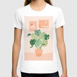 Monstera plant + Wall inspo T-shirt