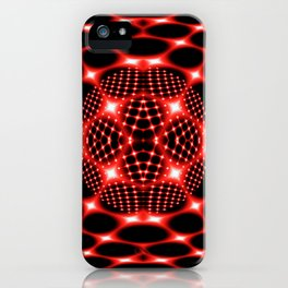 Neon red glob fractal iPhone Case