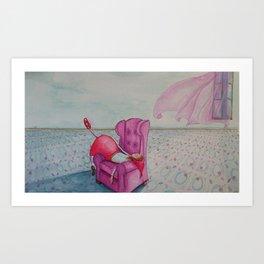 Caperucita por Angélica Muñoz Art Print