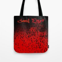 soul eater Tote Bags featuring Soul Eater by Deb Adkins