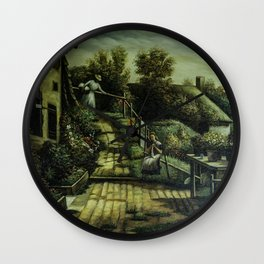 Hampshire Cottage (by Henry Bacon) Wall Clock