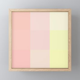 pink and yellow Framed Mini Art Print