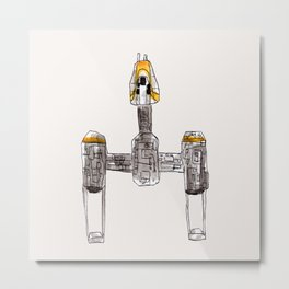 Starfighter Metal Print