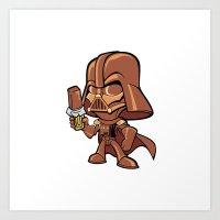 Choco Vader Art Print