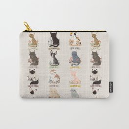 Cats Breed Carry-All Pouch