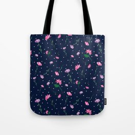Pretty Pink Watercolour Flowers Tote Bag