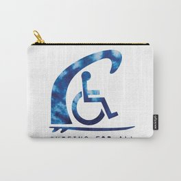 Baesic Surfing For All Tye Dye Carry-All Pouch