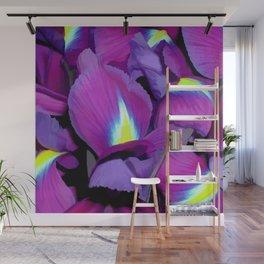 Purple Irises Wall Mural