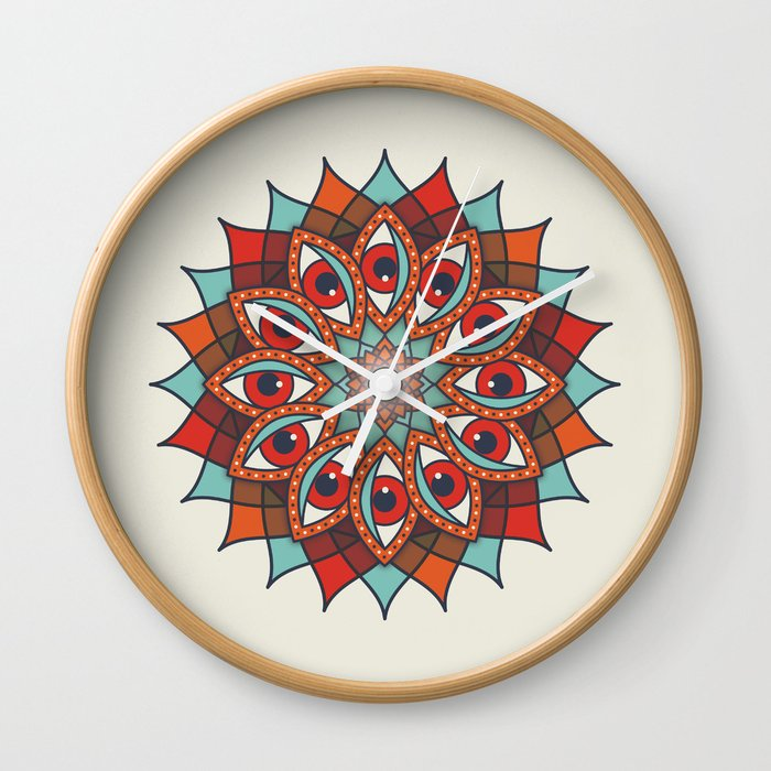 Bali Eyes 1 Wall Clock
