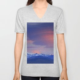 Lenticular clouds over Sierra Nevada National Park Unisex V-Neck
