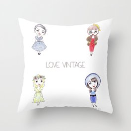 Love Vintage Throw Pillow