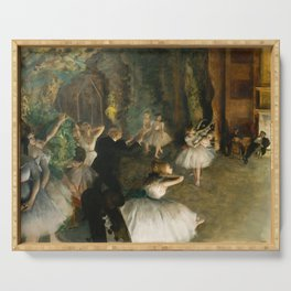 The Rehearsal of the Ballet Onstage - Degas Serving Tray