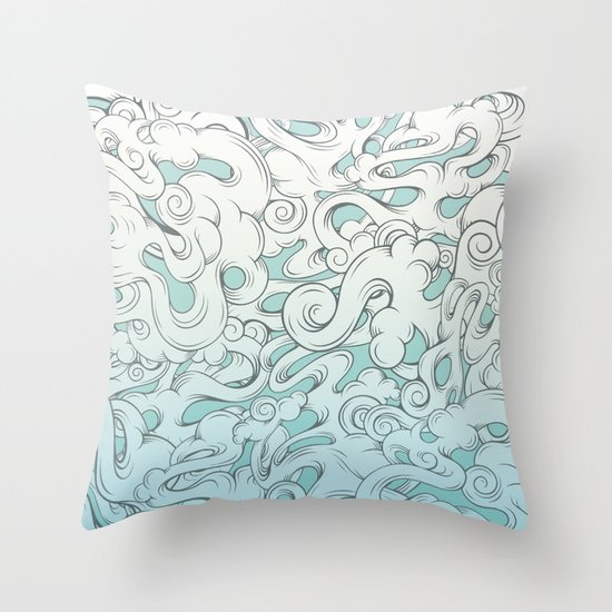 Entangled Clouds Throw Pillow
