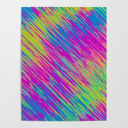 pink blue green and yellow graffiti painting texture abstract background Poster