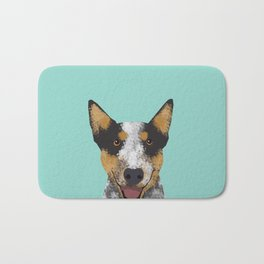 Australian Cattle dog must have gifts for cattle dog owners dog breed pet friendly unique dog art Bath Mat
