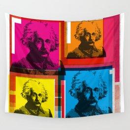 ALBERT EINSTEIN (4-UP POP ART COLLAGE) Wall Tapestry