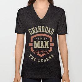 Granddad The Myth The Legend Unisex V-Neck