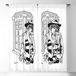 The Fourth Doctor Who / The Protagonist / Lord from the planet Gallifrey by Peter Melonas Blackout Curtain