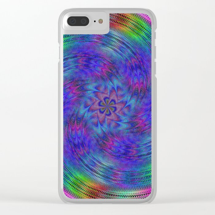 Liquid rainbow Clear iPhone Case