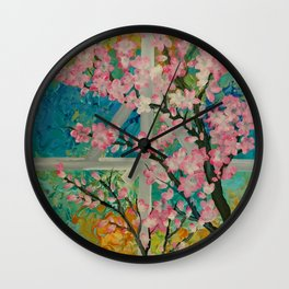Prunus serrulata Wall Clock