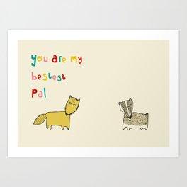 Bad Fox Art Print