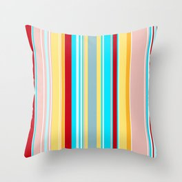 Stripes-024 Throw Pillow