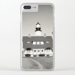Maine series - lighthouse Clear iPhone Case