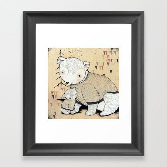 Mama Bear, Baby Bear Framed Art Print