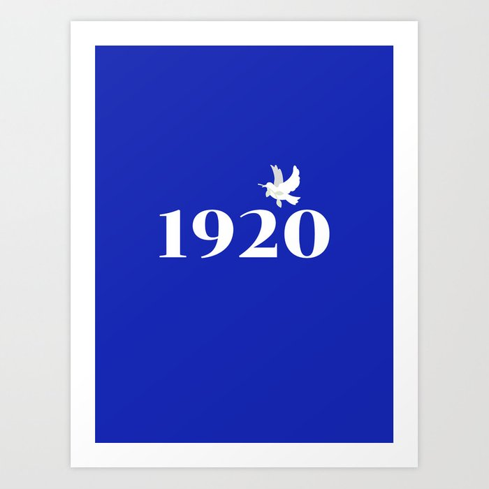1920 Blue Dove Art Print