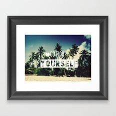 Go find yourself Framed Art Print