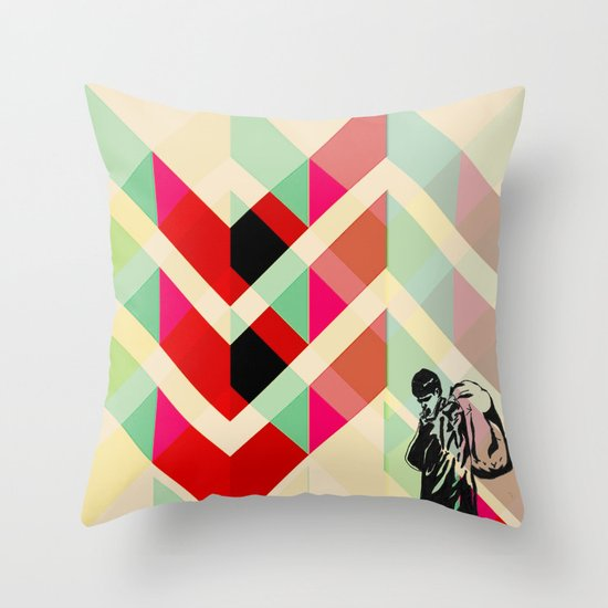 Ian Curtis from Joy division Throw Pillow