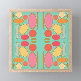 Mixed Shape Abstract Coral Gold Metallic Framed Mini Art Print