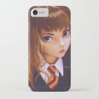 hermione iPhone & iPod Cases featuring Hermione by Mightymike