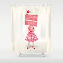 Cake Head Pin-Up - Cherry Shower Curtain