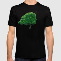 Sometimes the landscape reminded me... Black Mens Fitted Tee 2X-LARGE