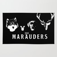 marauders Area & Throw Rugs featuring The Marauders by pirateprincess
