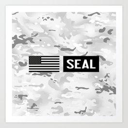 Seal (Arctic Camo) Art Print
