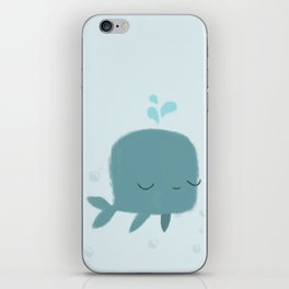 happy whale iPhone Skin