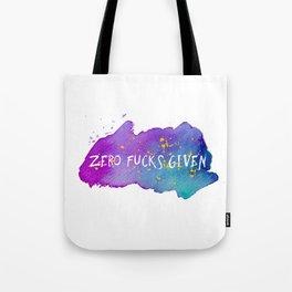 Zero fucks given Tote Bag