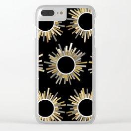 Art Deco Starburst in Black Clear iPhone Case