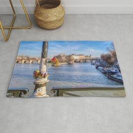 Pont des Arts on Valentine's day Rug