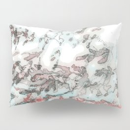 Red & Teal Foliage Pillow Sham