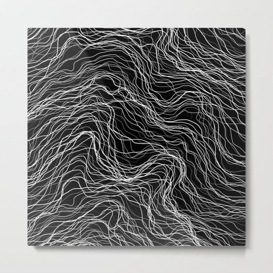 White Veins Metal Print