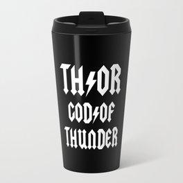 Thor God of Thunder ACDC Back in Black Travel Mug