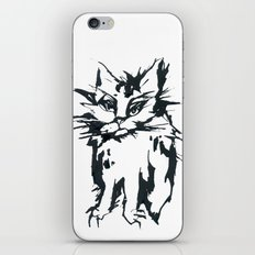 Angry Cat iPhone & iPod Skin