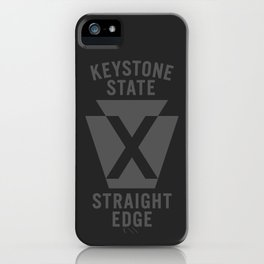 Keystone State Straight Edge iPhone Case
